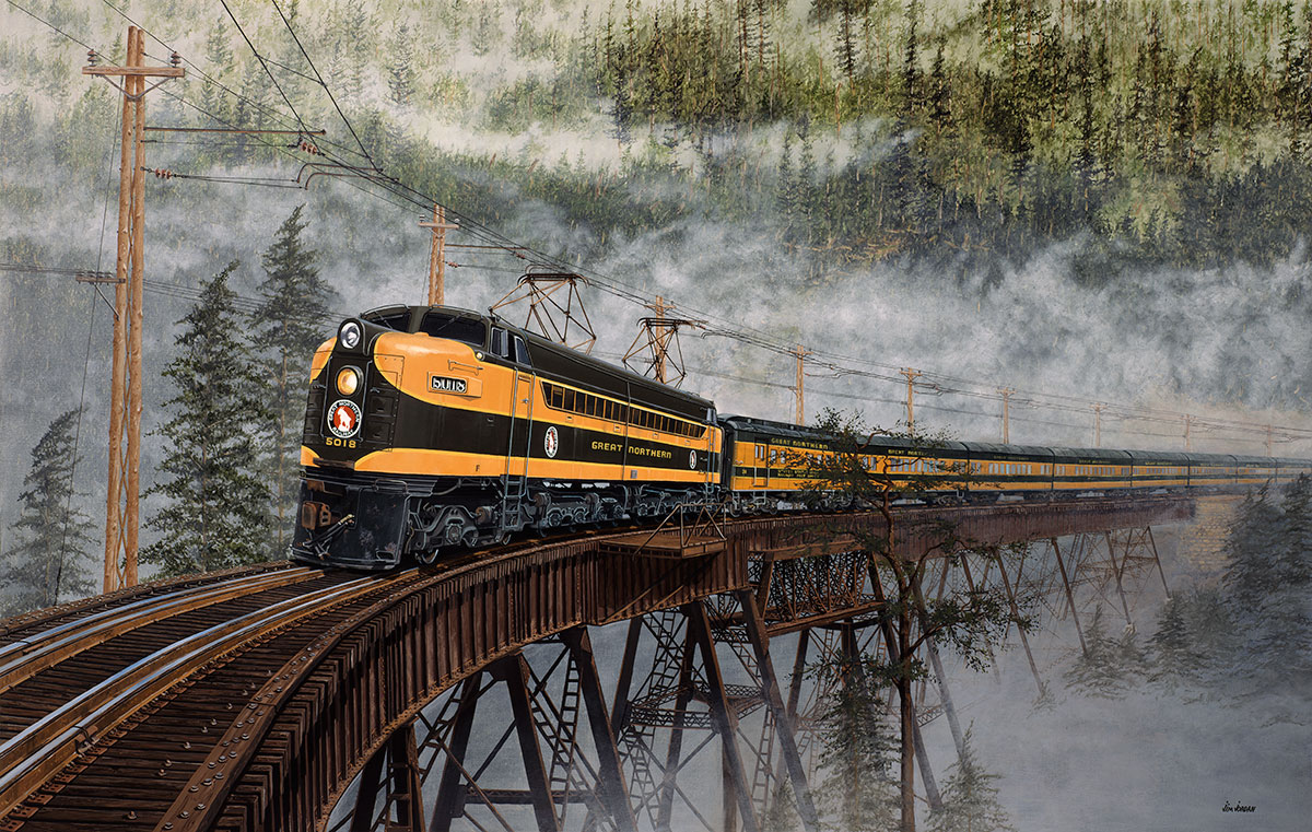 Foss River Crossing – Train Art Train Art For Sale Train Art